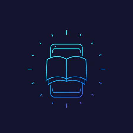 ebook vector linear icon