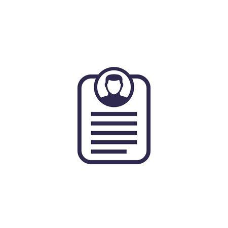 account info, profile, personal data icon