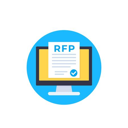 RFP, request for proposal icon