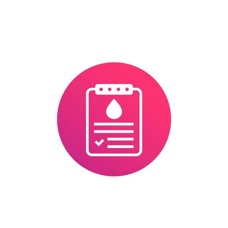 blood test results icon, vector