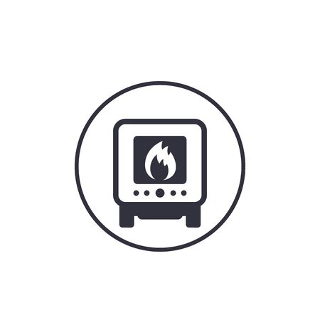 industrial oven icon on white