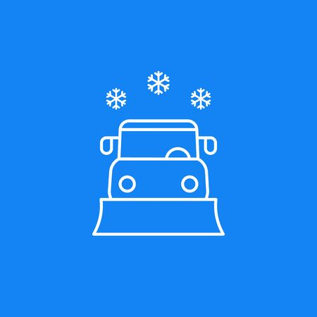 Schneepflug-Vektor-Liniensymbol