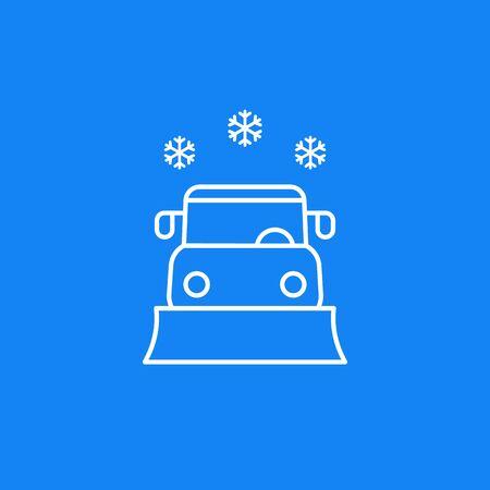 snowplow vector line icon Illusztráció
