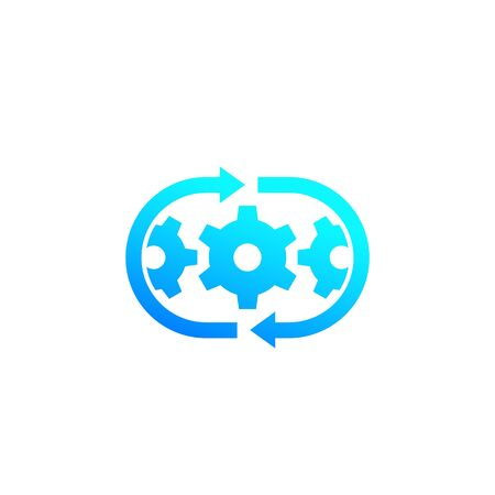 optimization process, operations icon Ilustração