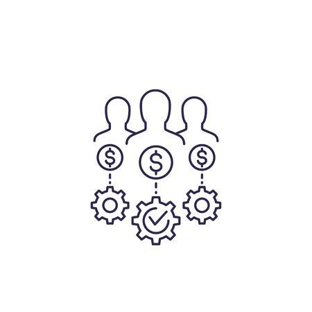 venture capital, investors vector line icon