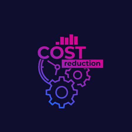 cost reduction, optimization vector illustration