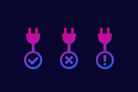 electric plugs with signs, icons