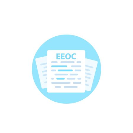 Equal Employment Opportunity Commission, EEOC document vector icon