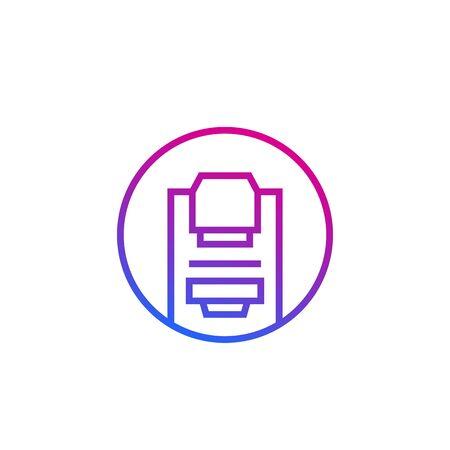 Mammography machine, line round icon