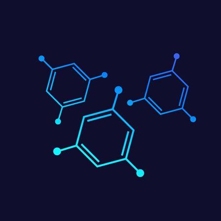 molecules, vector design Illustration