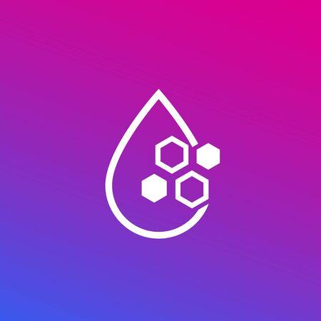 Drop with nano particles, vector icon