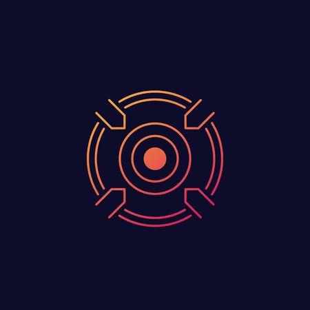 focusing, target vector icon