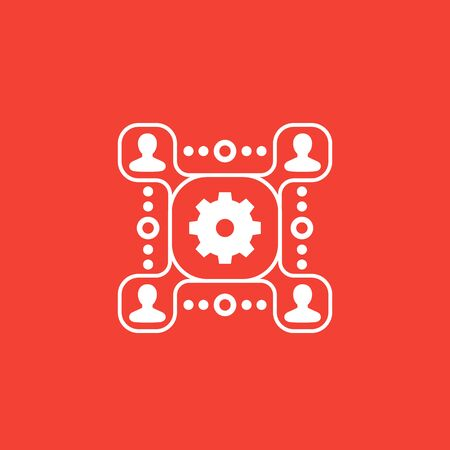people interaction vector icon