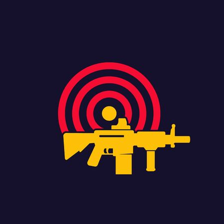 target and rifle logo design