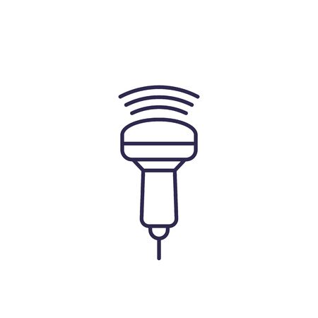 ultrasound icon, line vector