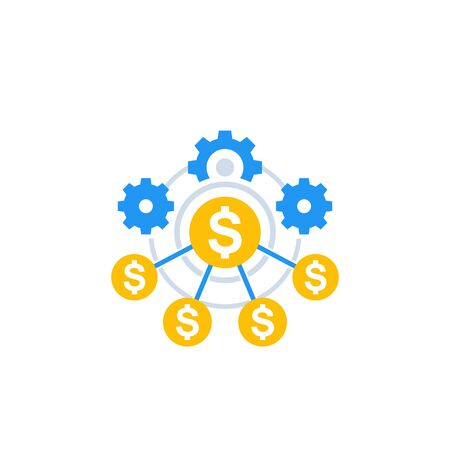 financial efficiency icon Çizim