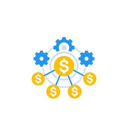 financial efficiency icon Иллюстрация