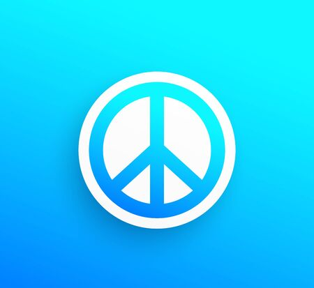 peace sign, vector icon