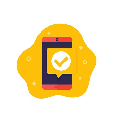complete vector icon with smart phone Illustration