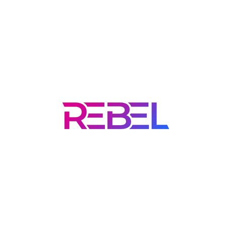 Rebel logo, modern design 矢量图像