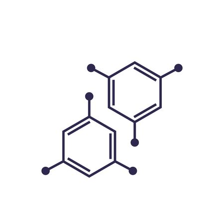 molecule icon on white, vector Illustration