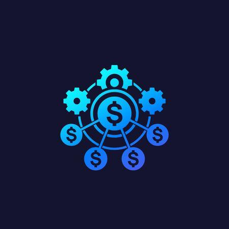 Vektorsymbol für finanzielle Effizienz