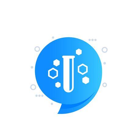 Science icon, vector