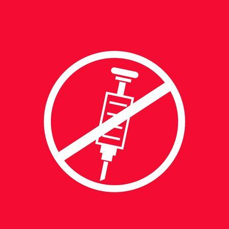 No doping vector banner Illustration