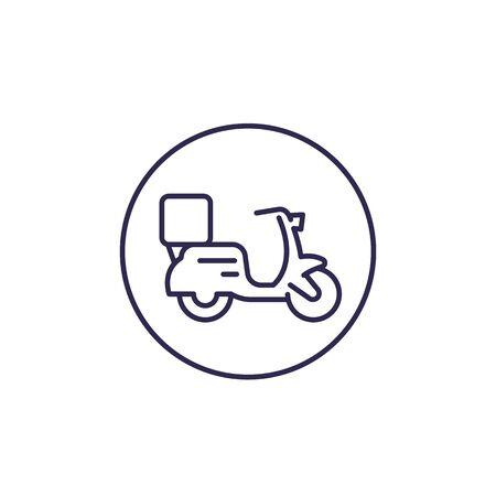 food delivery vector line icon
