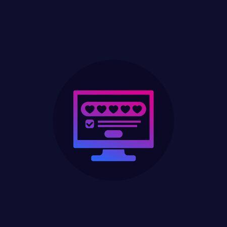 positive feedback, rating icon Stock Illustratie