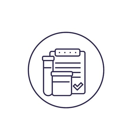 doping control vector line icon