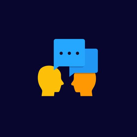 debate, dialogue vector icon Illustration