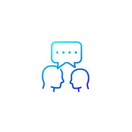 debate, dialogue line icon Ilustracja