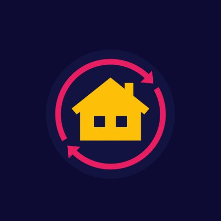 home rent icon, vector