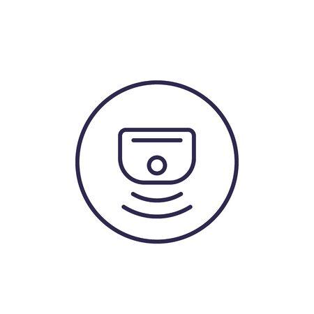 Sensor vector line icon