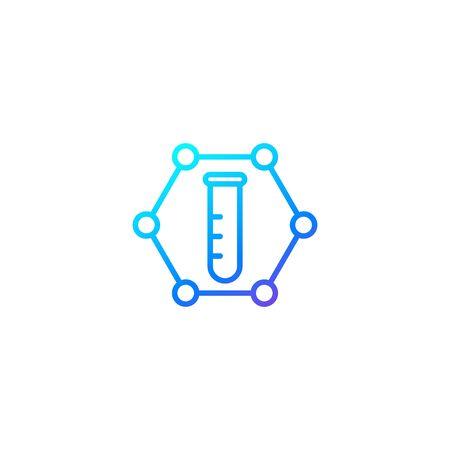 Science vector line icon