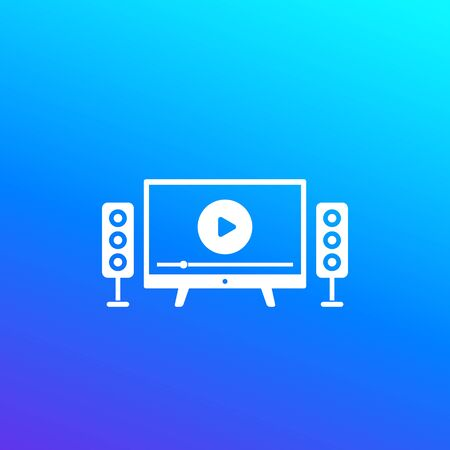 home theater vector icon