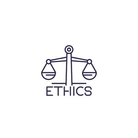 Ethics, line icon