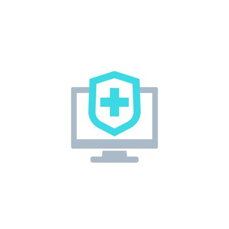 Online insurance, medical plan icon