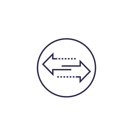exchange icon with line arrows
