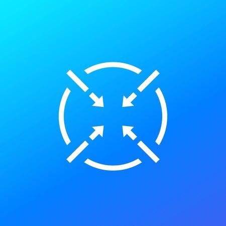icône de vecteur de mise au point Vecteurs