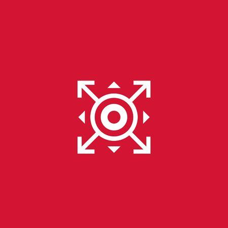 expand, spread icon, vector sign Zdjęcie Seryjne - 138021120