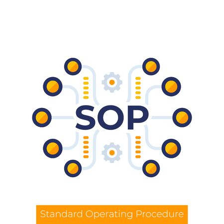 SOP icon, Standard Operating Procedure