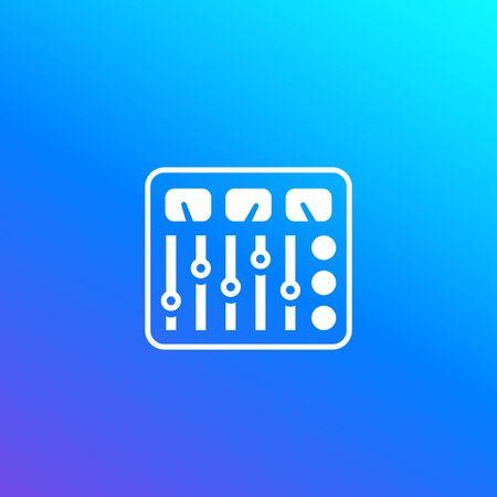 control panel vector icon