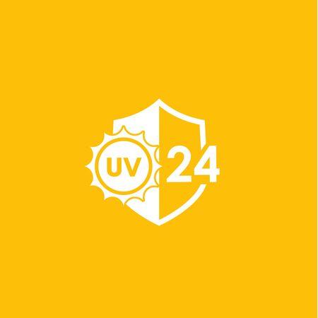 UV icon, 24 protection vector