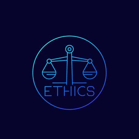 Ethics, linear icon 일러스트