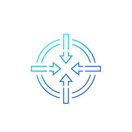 focusing icon, line vector Vecteurs