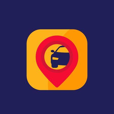 car sharing app vector