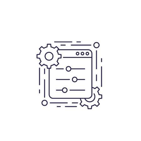 control panel, line icon
