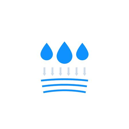 waterproof, hydrophobic icon